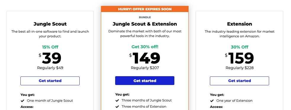Jungle Scout pricing